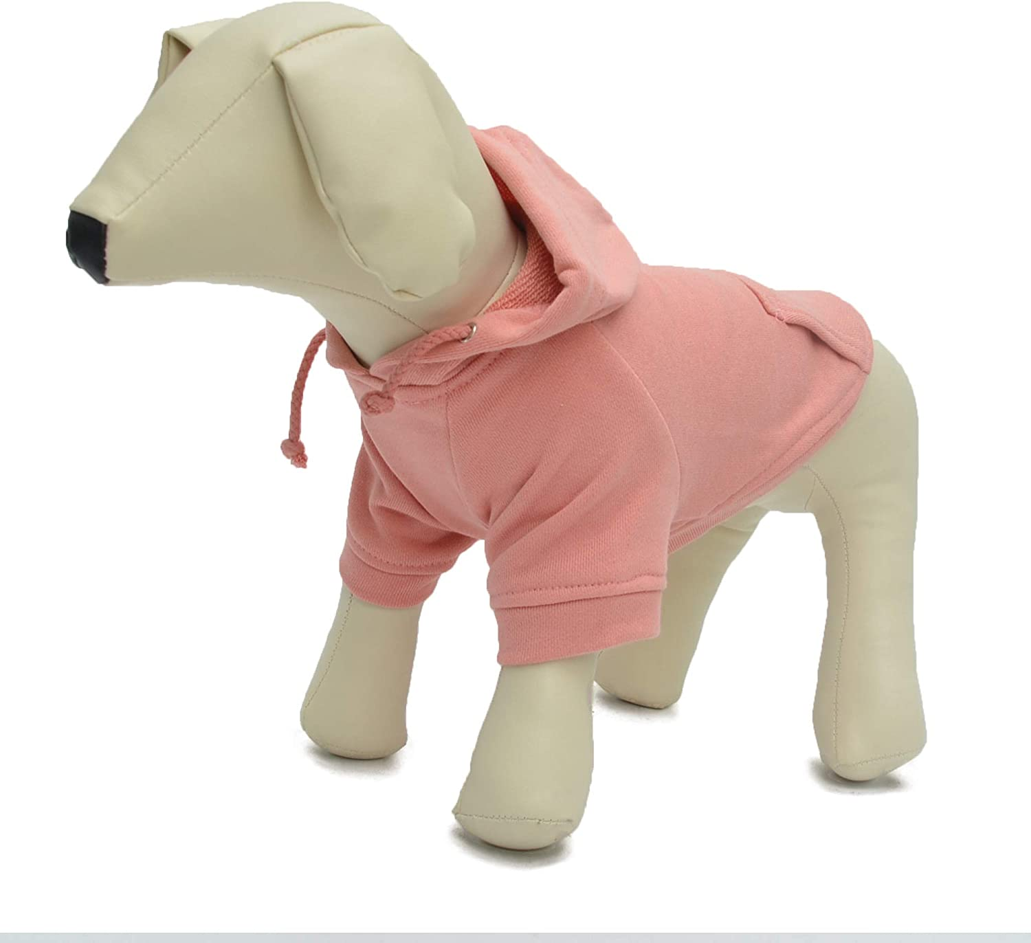M, Lotus Pink longlongpet Pet Clothing Clothes Dog Coat Hoodies Winter Autumn Sweatshirt For Small Middle Large Size Dogs 11 Colors 100/% Cotton 2018 New