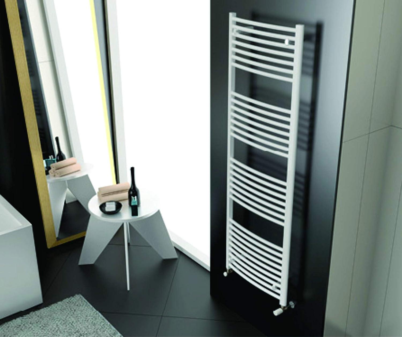 Cordivari Lisa Hydronic Towel Warmer Curved 24''x28'' Radiator Italy Design