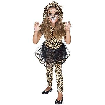 Rubies Traje de niño Leopardo Vestido de Mujer Marrón África ...