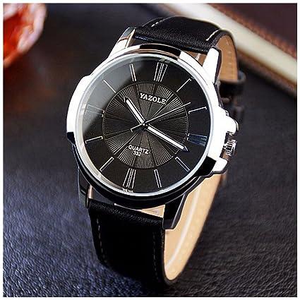 47284e01fa5e Lanlan para hombre análogo de cuarzo reloj de pulsera reloj de moda de ocio  de negocios