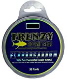 Frenzy 80-Pound Fluorocarbon Leader, 50-Yards, Clear