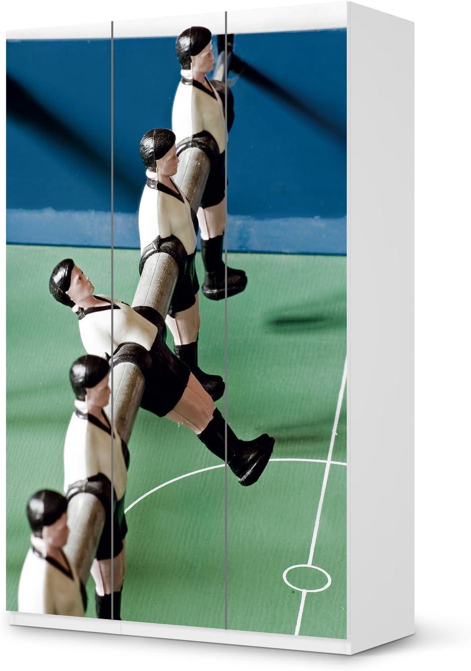 Pegatinas de IKEA PAX armario de 236 cm de alto - 3 puertas/Con diseño de protector de pantalla de futbolín/de los muebles de la decoración: Amazon.es: Hogar