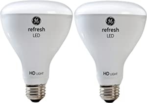 GE Lighting Refresh LED HD 10-watt (65-watt Replacement), 650-Lumen R30 Light Bulb with Medium Base, Daylight, 2-Pack