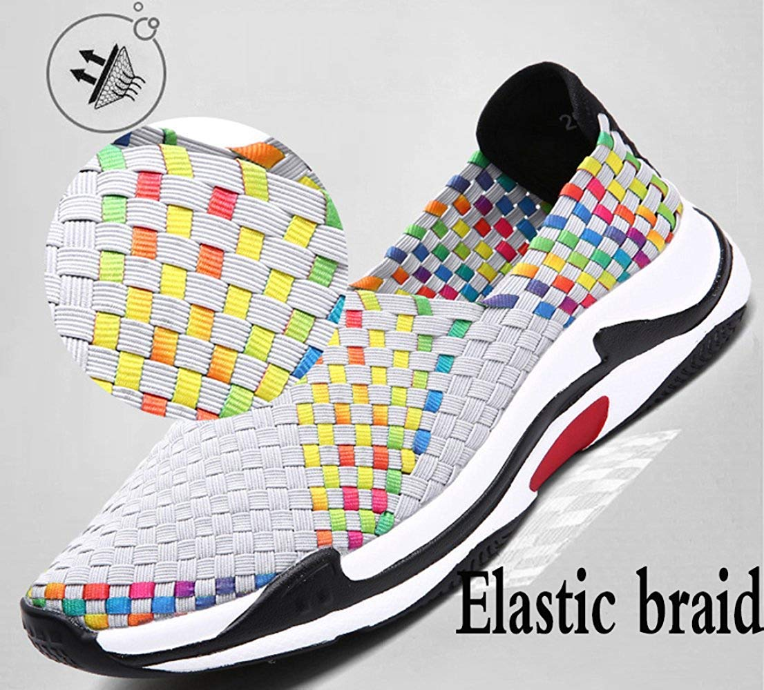 Oudan Die Beiläufigen Turnschuhe Der Mode Männer Faulen Schuhe Gewebte Mode Der (Farbe   Grau, Größe   42EU) df4950