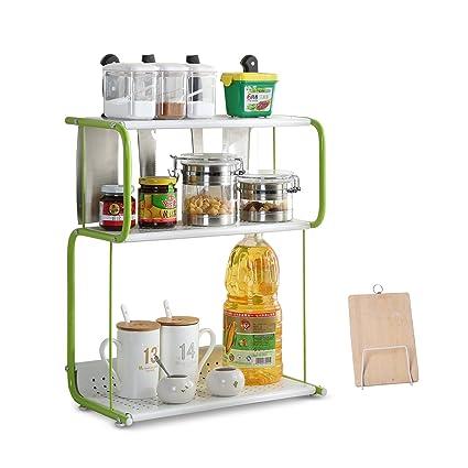 Amazon Com Garwarm 3 Tiers Spice Rack Kitchen Storage Racks Kitchen