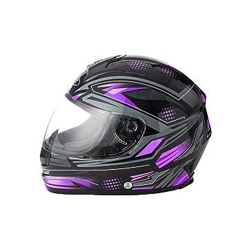 Sun Visor Flip Up Front Motorbike Helmet Scooter Motorycle Full Face Bike Racing Helmet Mens Boys Size Medium