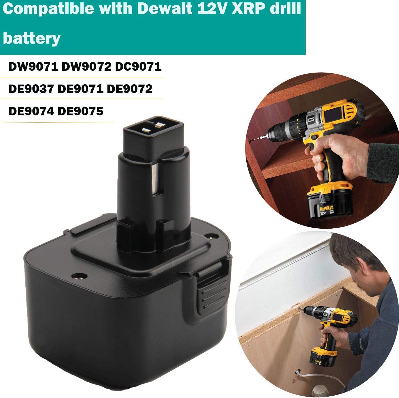 3500mAh 12V Ni-MH DW9071 Battery For Dewalt DE9071 DW9072 DE9037 DE9074 DE9075