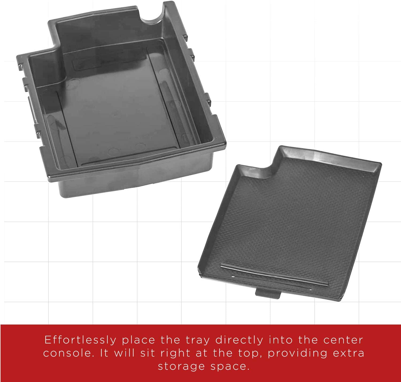 1 Pack Black OxGord Center Console Organizer for 12-16 Subaru Impreza J2010FJ000VH Compartment Tray