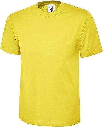 Plain Classic Top Camiseta de Manga Corta 100% algodón Casual Ocio Deportes Trabajo UC301: Amazon.es: Ropa y accesorios