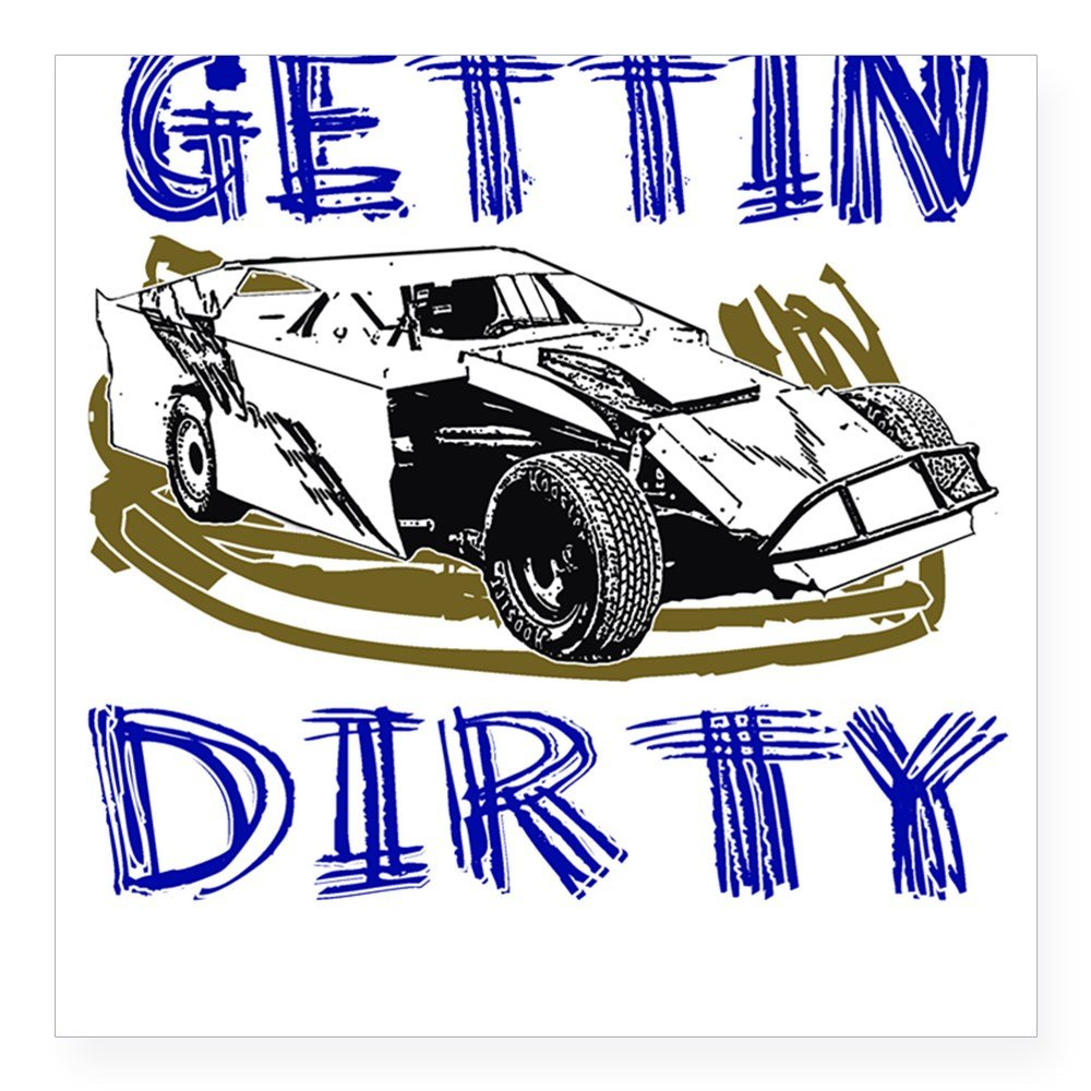 Amazon com cafepress gettin dirty dirt modified square sticker square bumper sticker car decal 3x3 small or 5x5 large automotive