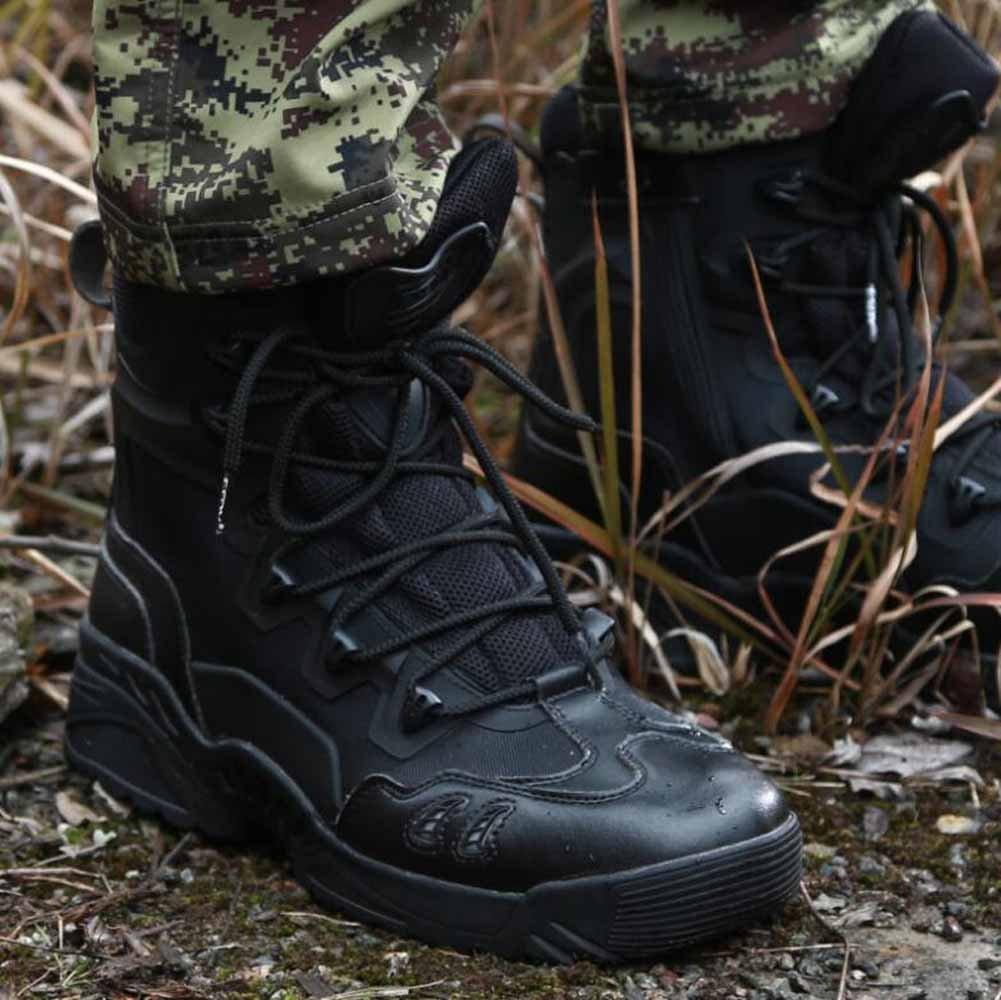 GLSHI Outdoor Taktische Stiefel Wüsten Wüsten Wüsten Männer Schnürsenkel Jagd Stiefel Breathable High Rise Sturm Stiefel c03109