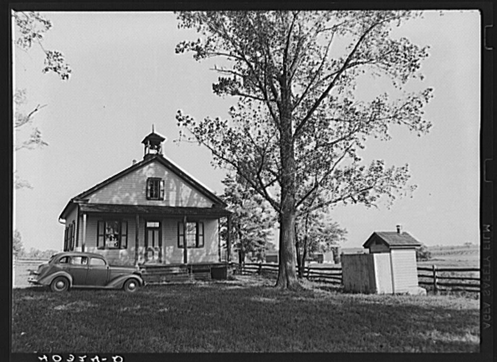 Historic Photos Lancaster County, Pennsylvania. The one-room schoolhouse where Martha Royer teaches school