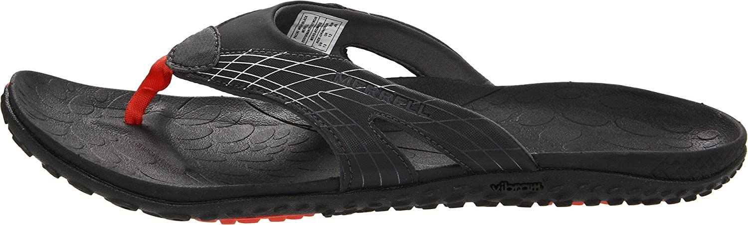 3dd521b4404 Merrell Men s Paciki Wrap Flip Flops J38451 Black 9 UK  Amazon.co.uk  Shoes    Bags