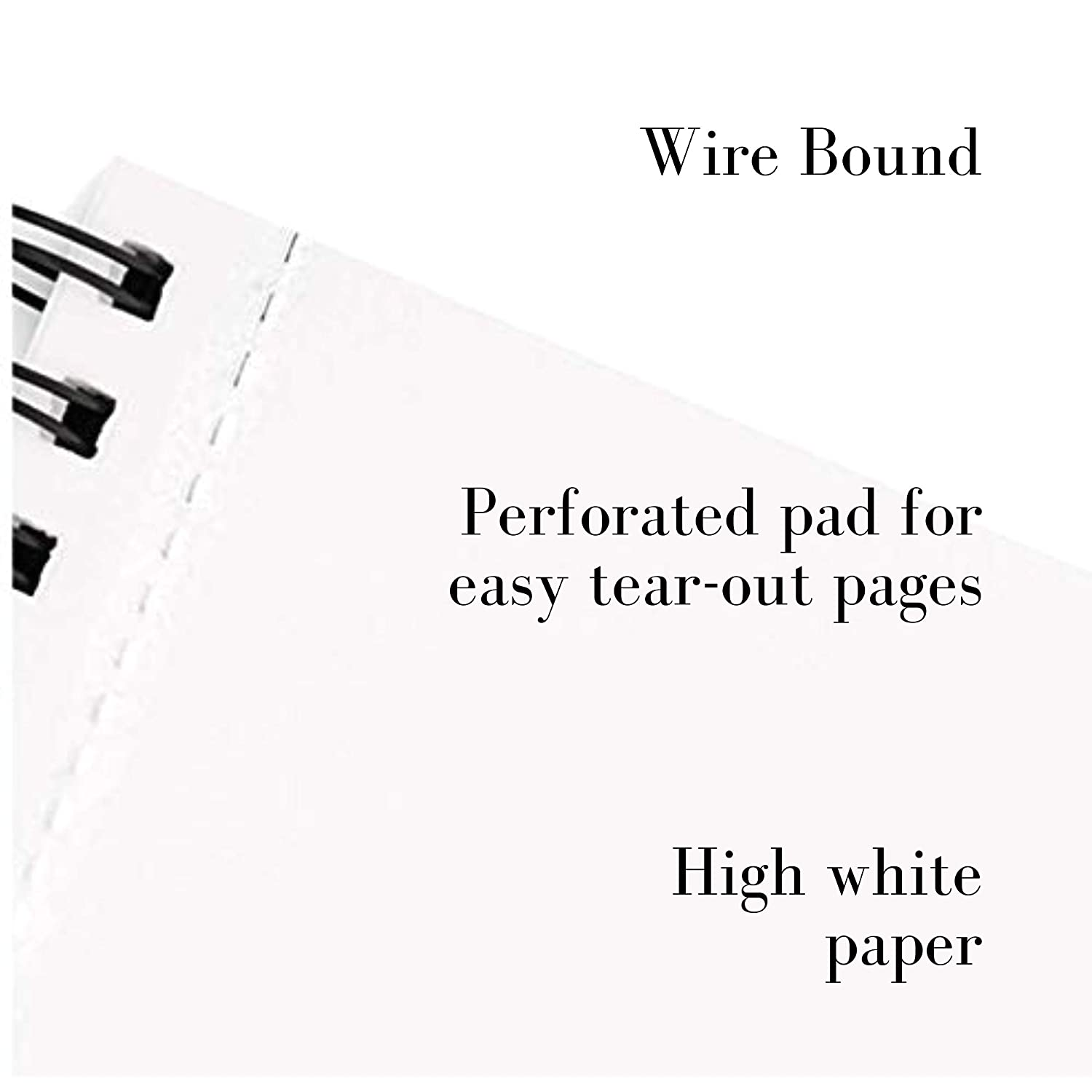 Painting for Drawing Pencil Sketching Etc. Smooth Surface Biodegradable Works with Pen Printing Heavy Weight Marker High White Bristol Paper Pad Wire Bound Scanning 20 Sheets