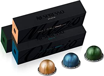 Nespresso Capsules VertuoLine, Best Seller Variety Pack, Medium and Dark Roast Coffee, 30 Count Coffee Pods, Brews 7.8 oz