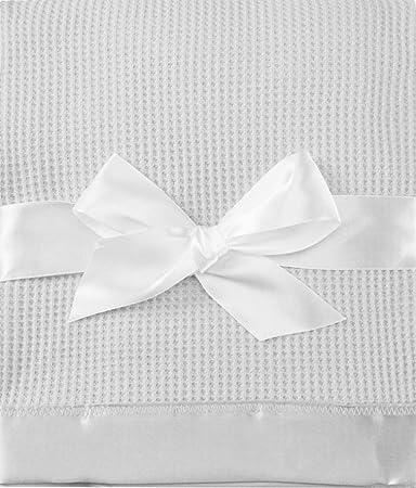 Amazon.com: Toysdone Thermal Waffle Weave Baby Blanket with Satin