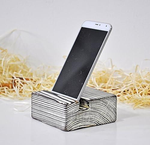 Porta móvil de madera rústico Stand para tablet Soporte móvil para ...