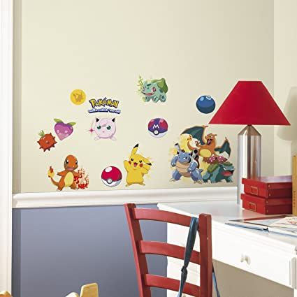 RoomMates RMKSCS Pokemon Iconic Peel And Stick Wall Decals - How do u put up a wall sticker