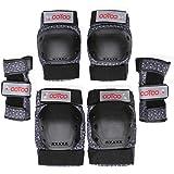 OOTOO スケボー プロテクター 膝/肘/手首 保護パッド 6点セット 子供/大人用 インラインスケート ローラースケートに適用 専用袋付き