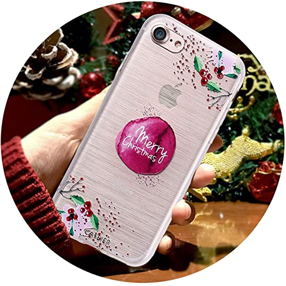 outlet store 19fca b22d3 Amazon.com: Christmas Phone Case for iPhone 6 6s 7 8 Plus New Year ...