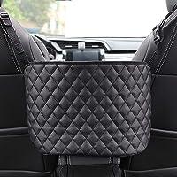 Car Net Pocket Organizer Handbag Holder Mesh Front Seat Arm Rest Organizer Large Capacity Cargo Net for Bag, Purse…