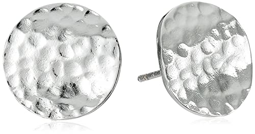 1deb34bb8 Image Unavailable. Image not available for. Color: Hammered Sterling Silver  Circle Stud Earrings