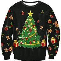 Sudaderas Navideñas Unisex Sudadera Navidad Estampadas Jersey Hombre Mujer Sueter Navideño Reno Sweaters Pullover Cuello…