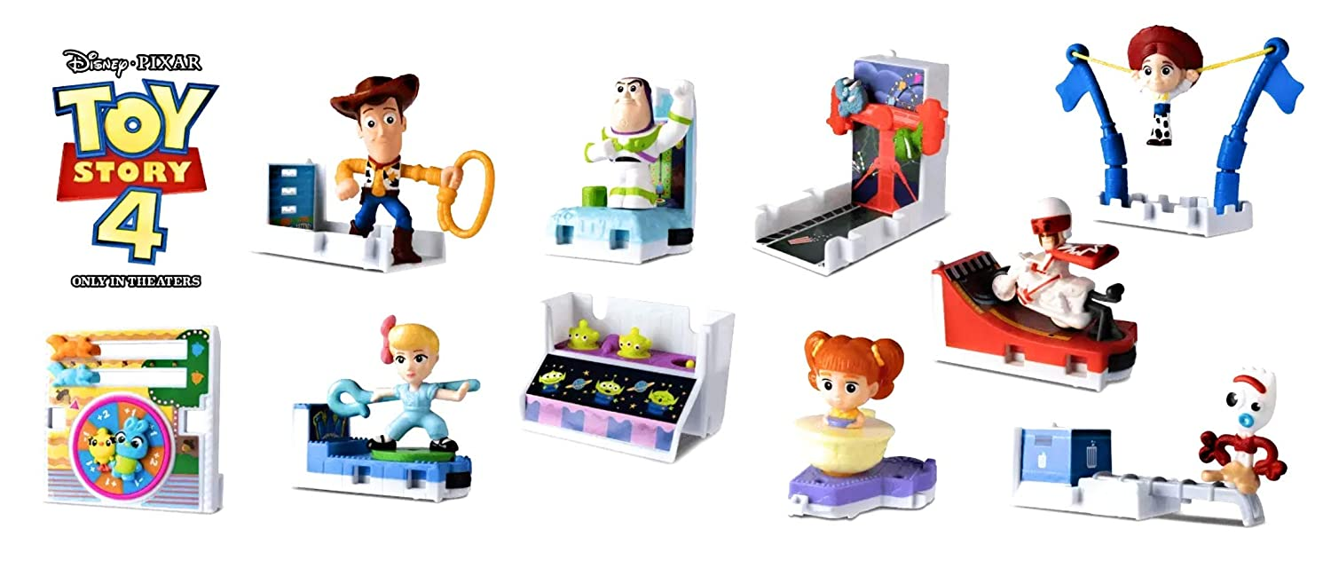 McDonald's 2019 Toy Story 4 - Complete Set of 10 + 12 Stickers