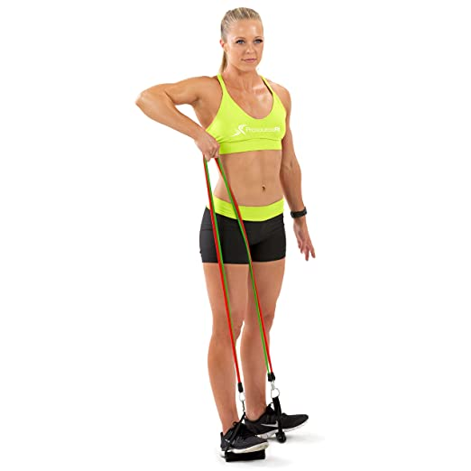 ProSource Stackable Resistance Bands 11-Piece Set with Extra ...