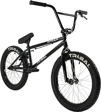 Tribal Spear - Bicicleta BMX, Color Negro Brillante: Amazon.es ...