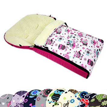 BAMBINIWELT MUFF+WINTERFUSSSACK Jogger Buggy Wolle EULE $10 108cm