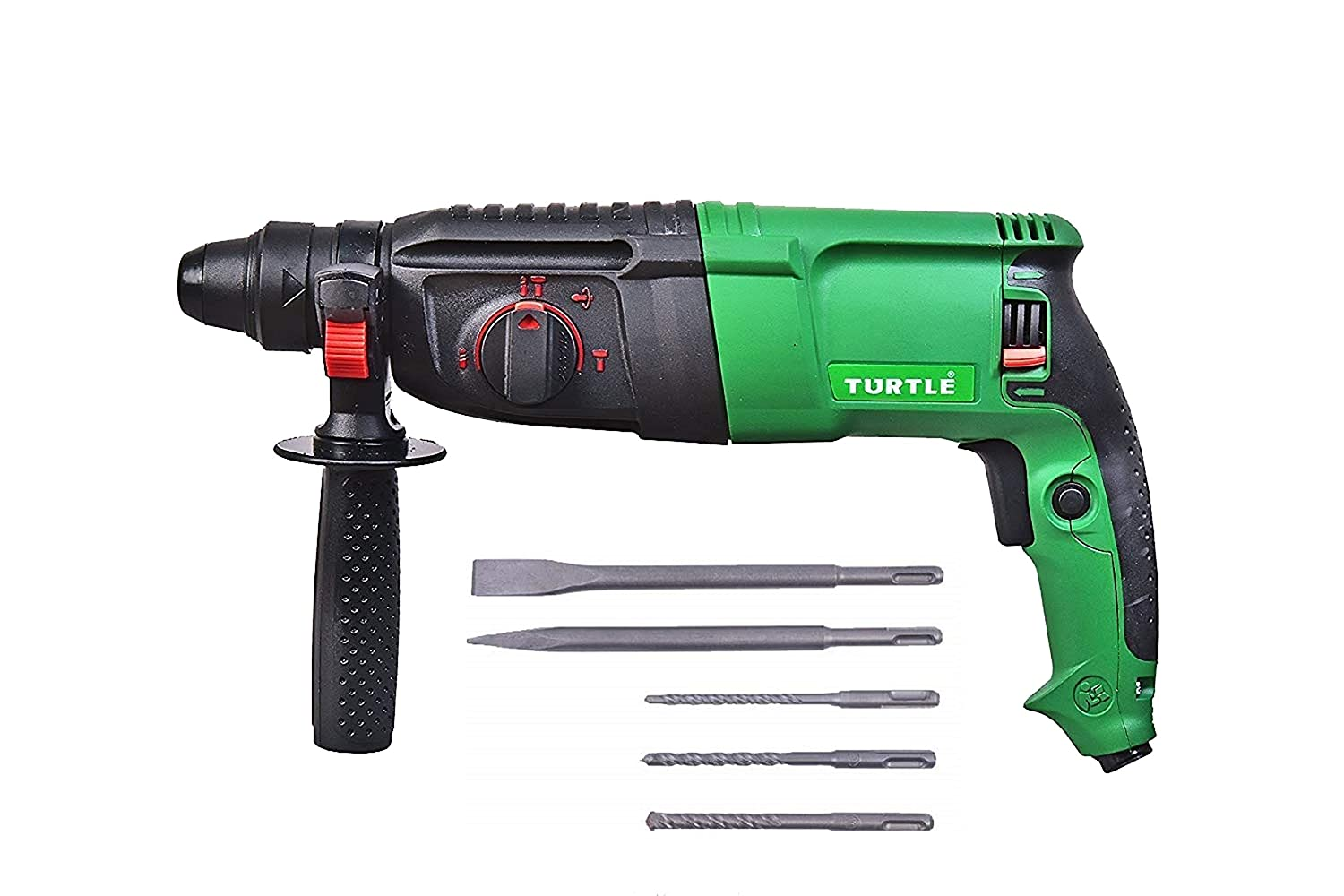 Tuf Turtle 26 Mm Heavy Duty Reversible Rotary Hammer With 5 Piece Drill Bit