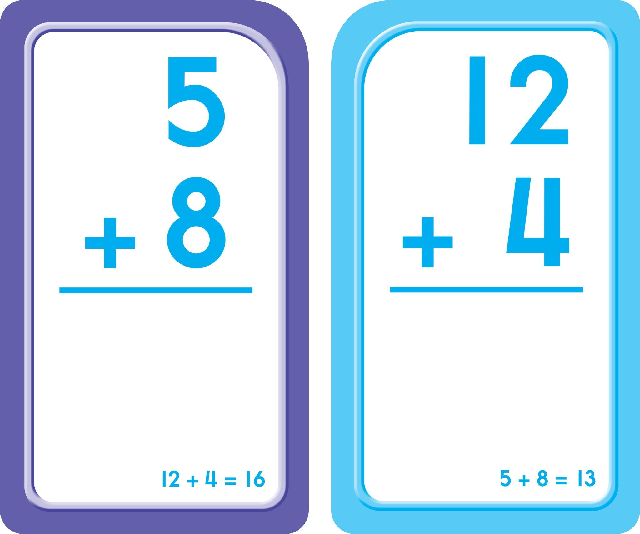 School Zone - Addition 0-12 Flash Cards - Ages 6 and Up, Probem ...