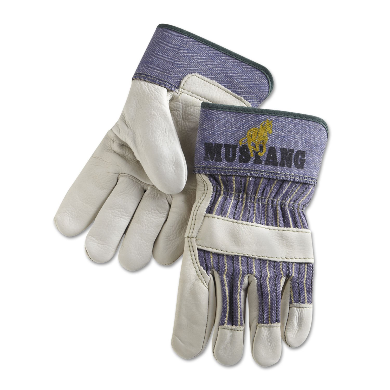 Memphis Glove 127-1935M Mustang Grain-Leather Palm Gloves, Grain Cowhide, Medium, Multicolor by Memphis Glove B0089N7I6O