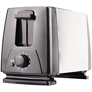 Brentwood TS-280S Toaster Extra Wide Slot, 2-Slice, Stainless Steel