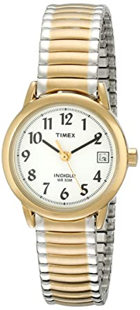 amazon com timex women s t2h381 easy reader two tone stainless timex women s t2h381 easy reader two tone stainless steel expansion band watch
