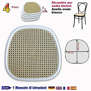 Asiento de repuesto para silla Bistrot ovalada, Vienna y Thonet, plástico, PVC: Amazon.es: Hogar