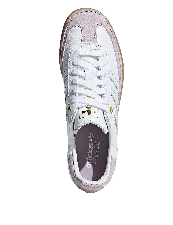 the best attitude e742a 8d44e Amazon.com   adidas Originals Women s Samba Og Leather Sneakers White    Fashion Sneakers