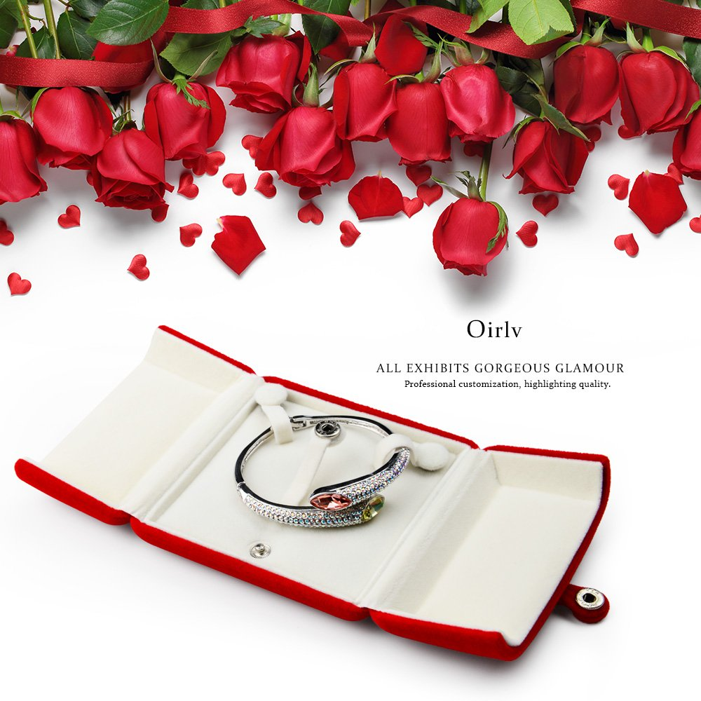 Oirlv Red Jewelry Gift Box Bracelet/Bangle Storage Boxes