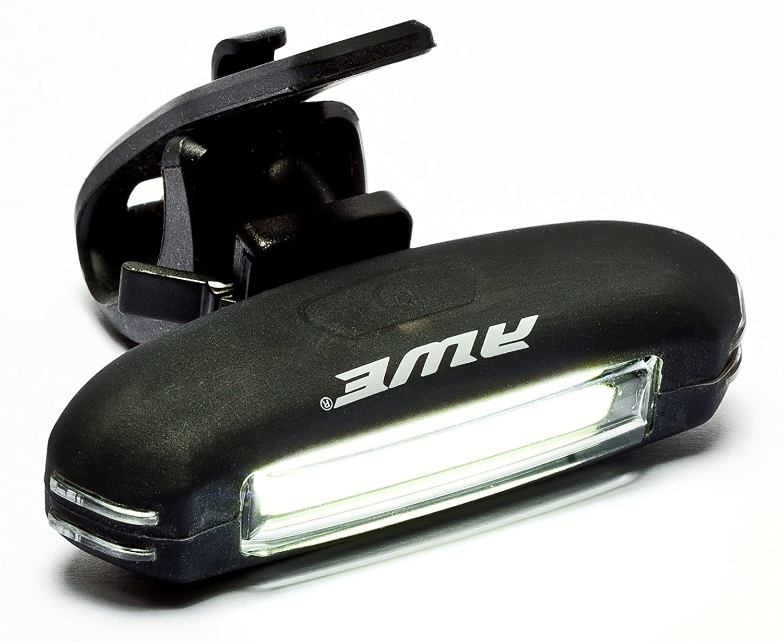 AWE/® AWEBlaze/™ ricaricabile Set di luci di biciclette in Silicone USB 2.0 COB 25 LED Micro nero 65 lumen