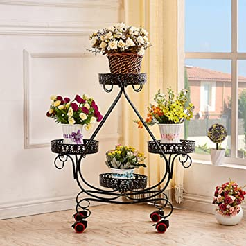 Flower rack Lei ZE Jun UK- Estante de Flor Push-Pull móvil ...