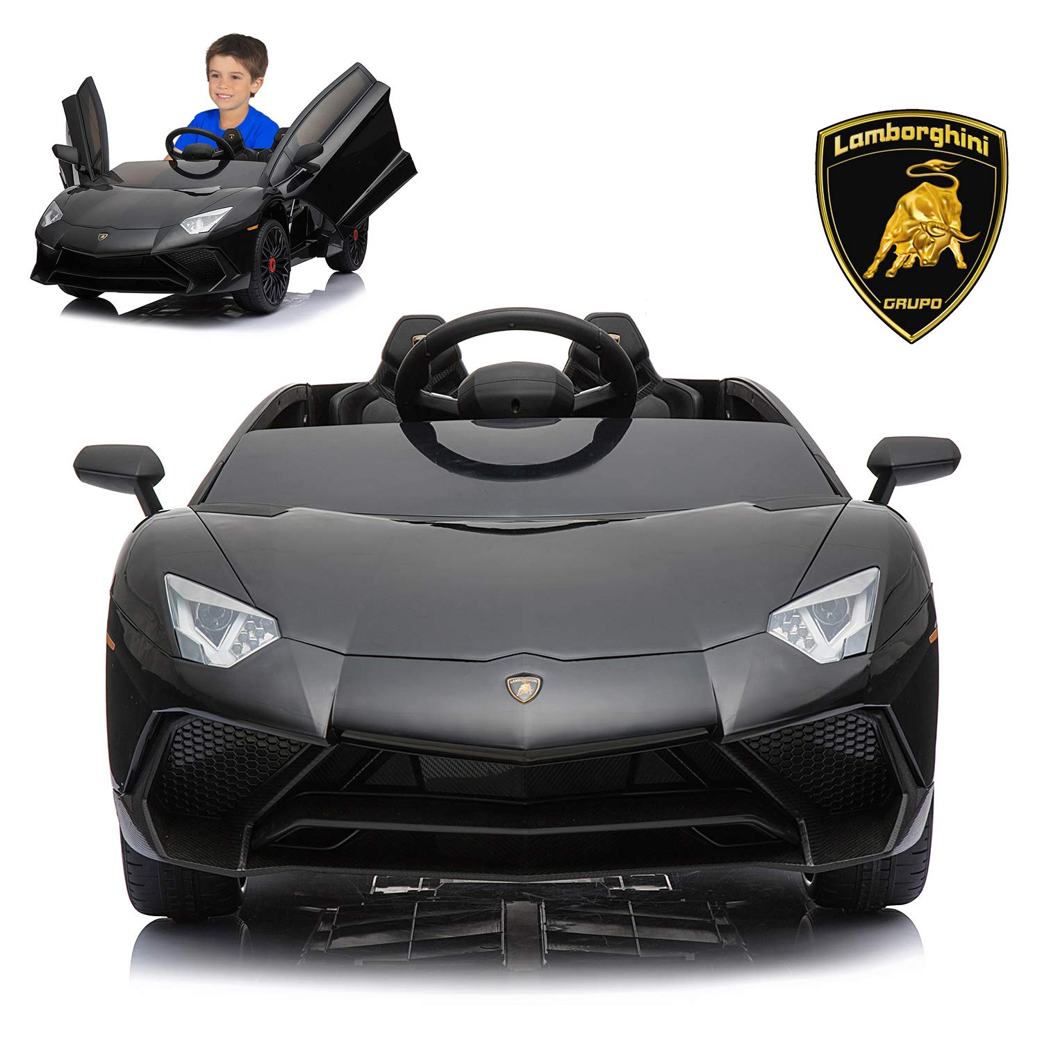 Electric Kids Cars >> Amazon Com Lamborghini Electric Ride On Car With Remote Control For