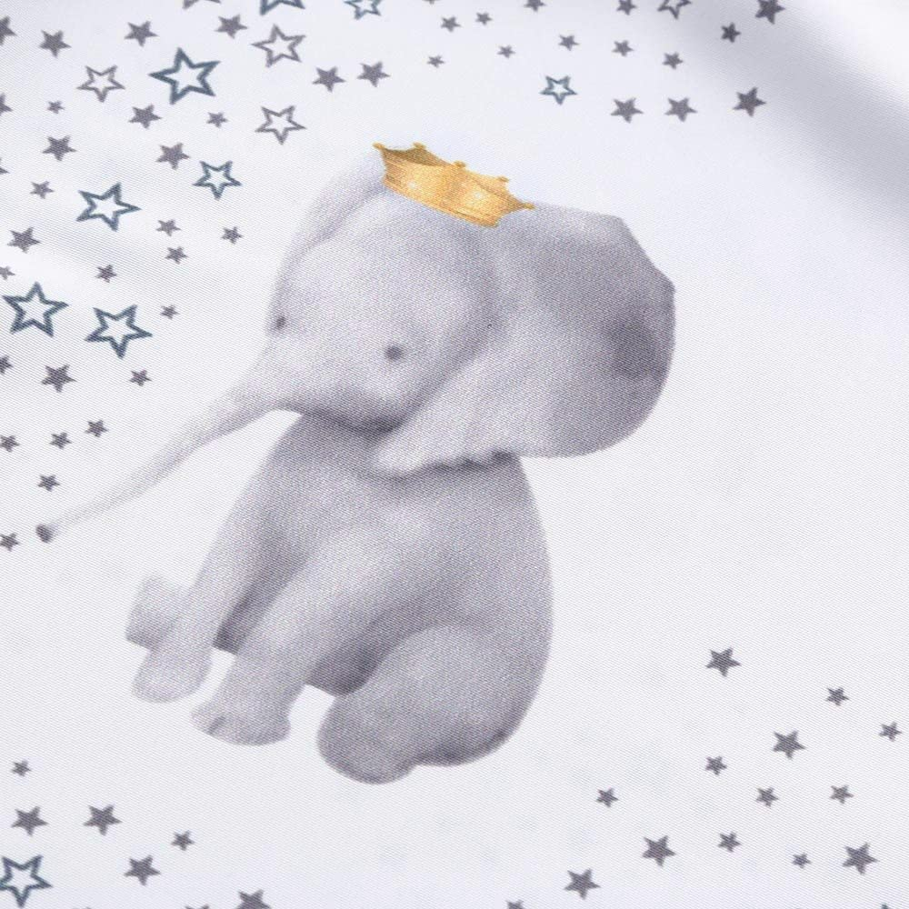 Toddler Girl Dress Baby Girl Clothing Little Stars Print Elephant Cartoon Dress Ruffle Sleeves Mini Dress Yamally