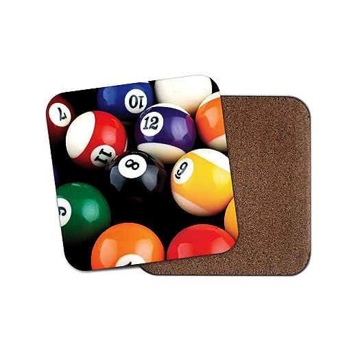 Impresionante posavasos de bolas de billar - 8 bolas Snooker Cool ...