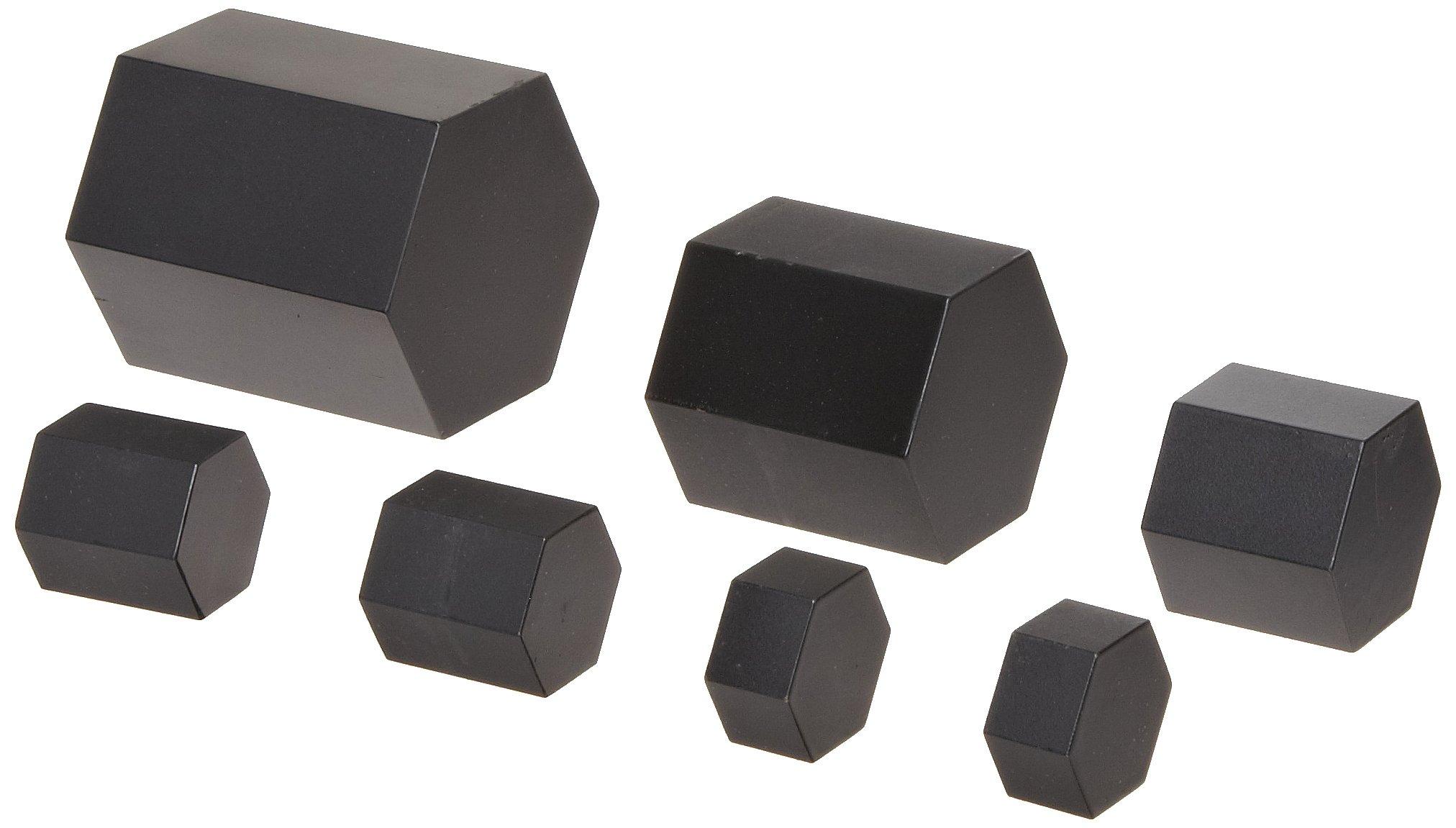 hand2mind 7-Piece Metric Hexagonal Bar Mass Weight Set