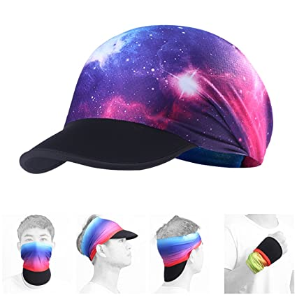 675aadfdf7a AXBXCX Soft Brim Sun Visor Cap Yoga Headband Women Headwrap with UV Sun  Protective for Fishing