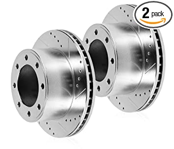 Amazon com: Detroit Axle - Pair (2) 369 mm Front Drilled and Slotted