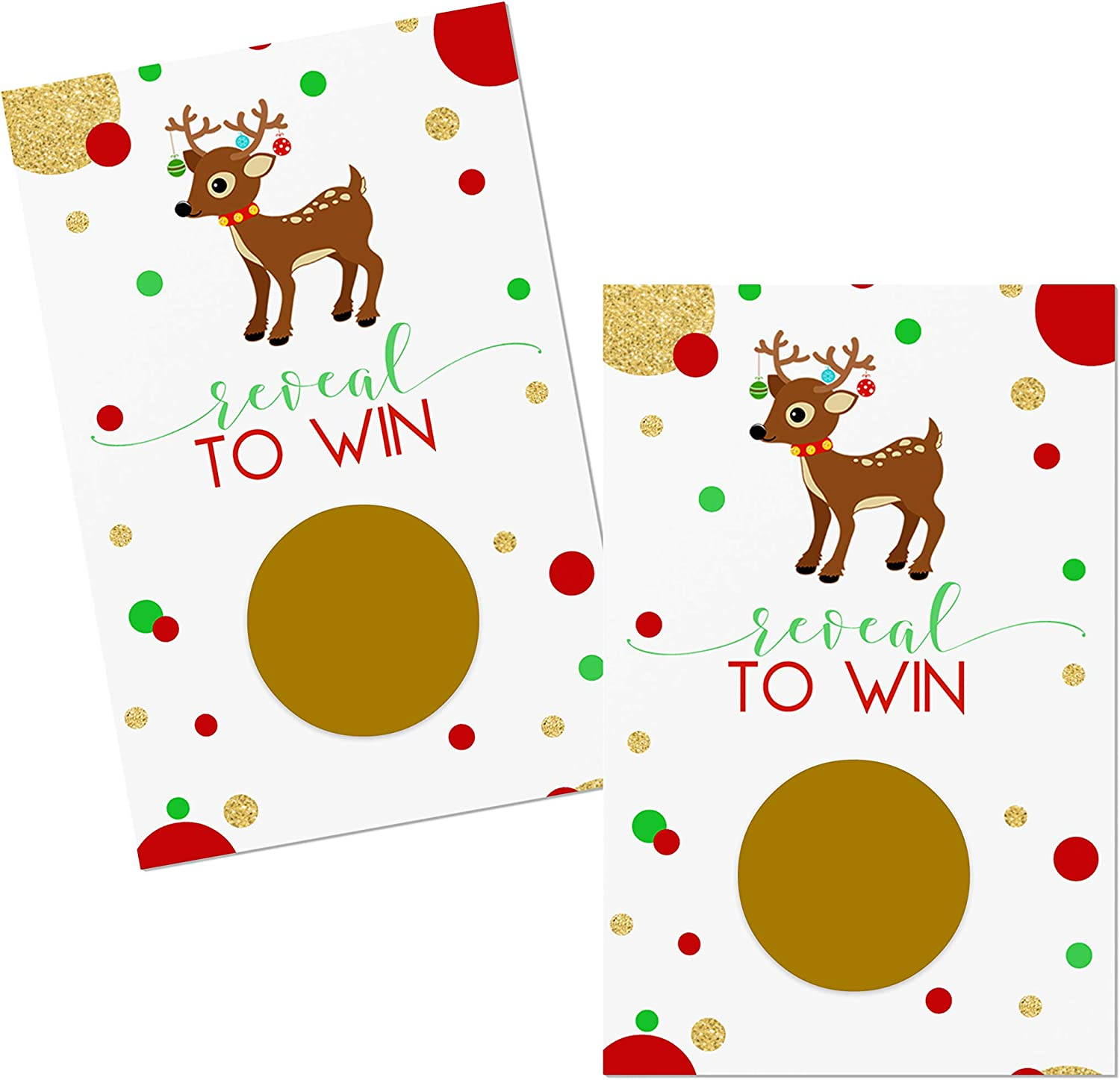 FaCraft Christmas Scratch Off Cards,28 Player Funny Santa Christmas Party Scratch Off Games,Christmas Party Supplies for Holiday Events