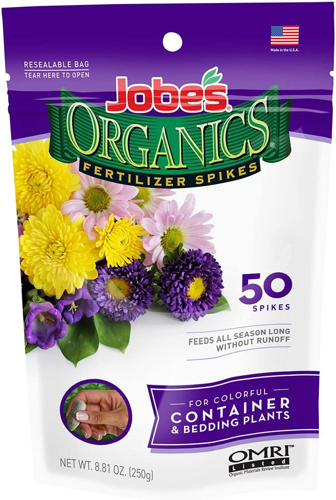 Jobe's Organics Container & Bedding Plant Fertilizer Spikes, 50 Spikes