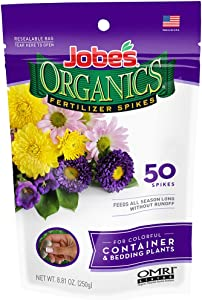 Jobe's Organics Container & Bedding Plant Fertilizer Spikes, 50 Spikes